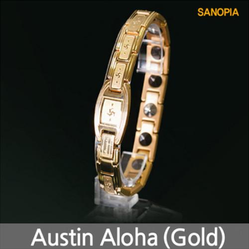 M [SANOPIA] 사노피아 오스틴알로하 게르마늄 티타늄 건강팔찌 (골드)