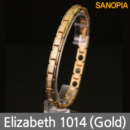 M [SANOPIA] 사노피아 엘리자베스 게르마늄 마그넷티타늄 건강팔찌1014 (골드)