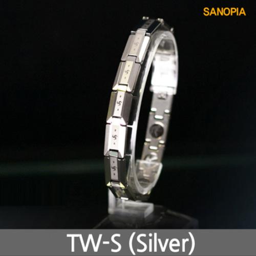 M [SANOPIA] 사노피아 게르마늄 텅스텐 건강팔찌 TW-S (실버)