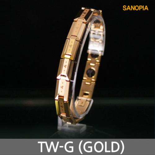 M [SANOPIA] 사노피아 게르마늄 텅스텐 건강팔찌 TW-G (골드)