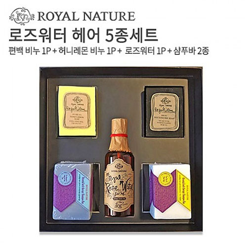 M [로얄네이처] 핸드메이드 로즈워터 헤어 5종세트