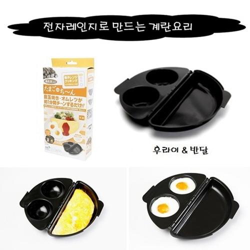 M 이하라키한 전자레인지 계란요리/후라이와반달오믈렛