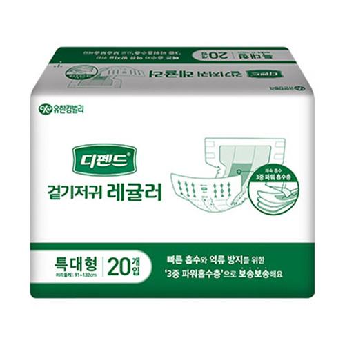M [유한킴벌리] 디펜드 겉기저귀 레귤러 특대형 (80매입)
