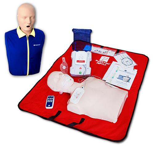 M 프레스탄 단순형 심폐소생마네킹 제세동실습세트 (PP-AEDT-105R+PP-AM-100)
