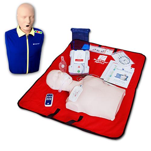 M 프레스탄 모니터형 심폐소생마네킹 제세동실습세트  (PP-AEDT-105R+PP-AM-100M)