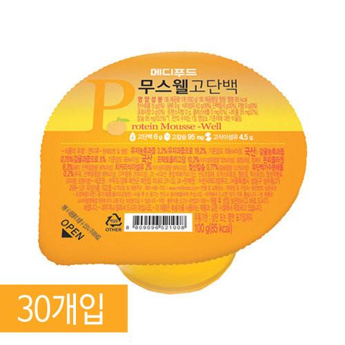 M [Medifood] 환자영양식 메디푸드 고단백 영양푸딩 무스웰 100g x 30개