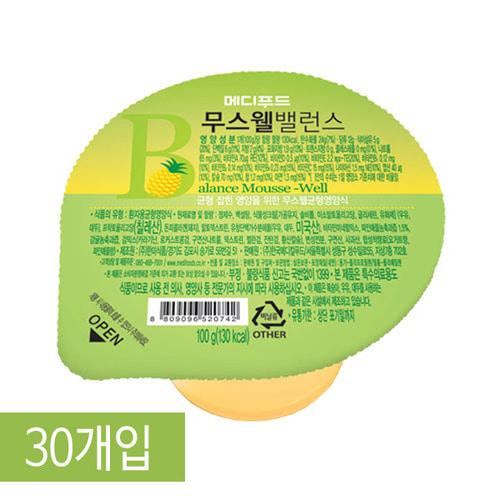 M [Medifood] 환자영양식 메디푸드 고단백 영양푸딩 무스웰 밸런스 100g x 30개