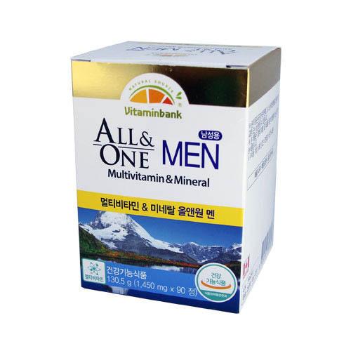 M [비타민뱅크] 남성용 종합비타민 Man 90정