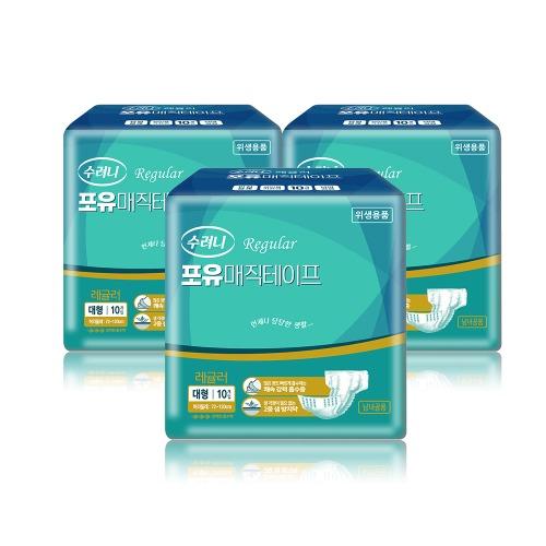 M 수려니 성인용기저귀 포유 매직테이프 대형 레귤러 80매입 - 29711