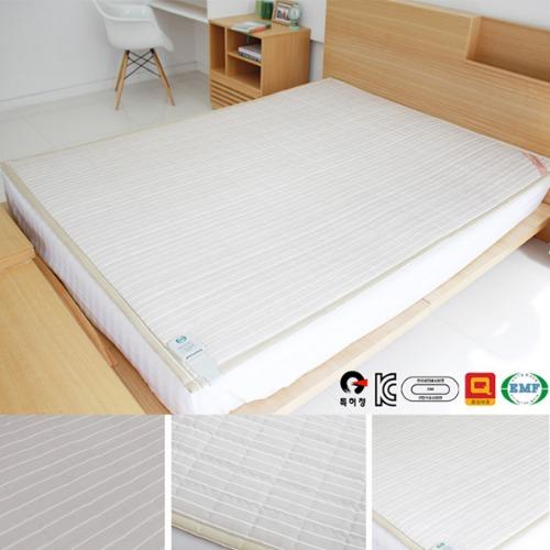 M 카르보노 줄무늬 면재질 숯 탄소전기온열매트 퀸 - 150 x 200cm
