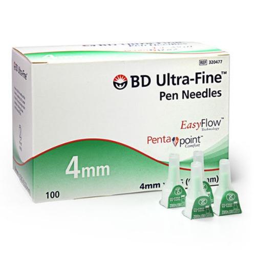 M BD인슐린펜니들 울트라파인 이지플로우 32G 4mm 100개 - 320477
