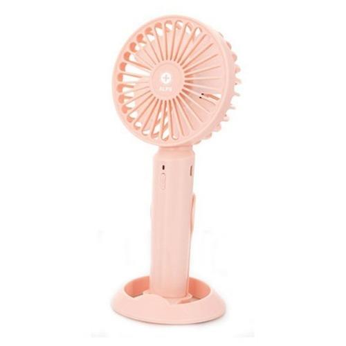 M 알프스 핸디형선풍기 핑크 AL-HP1 거치대포함