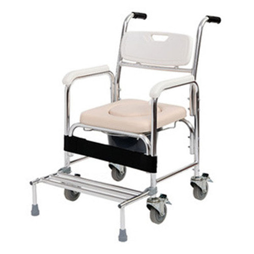 M 라온아띠 이동식 목욕의자(바퀴형)+변기통포함 KCS-801
