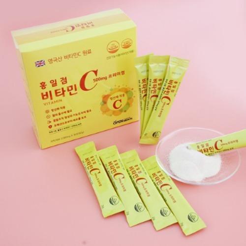 M 홍일점 비타민C프리미엄 1박스 40 세트 (2g x 1200포) - 영국산 비타민 원료, 석류농축분말함유