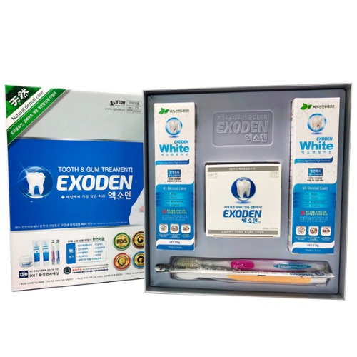 M 엑소덴 선물세트A (분말70g+치약150g 2개+칫솔2개)