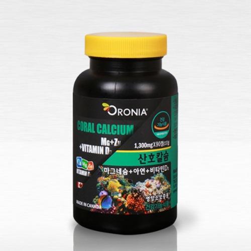 M 오로니아 산호칼슘 마그네슘 아연 90정