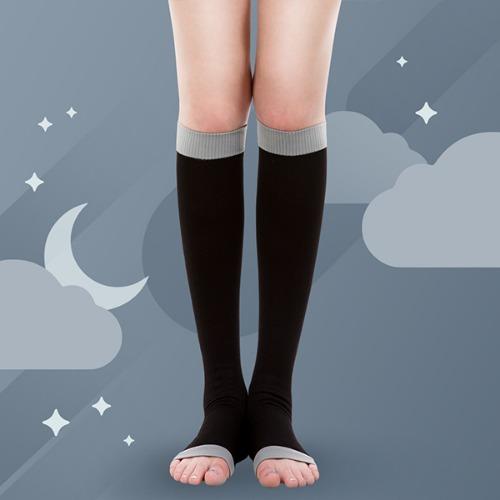 M 원더워크 수면스타킹 무릎형 블랙