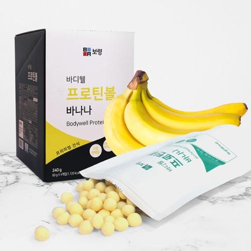 M 바디웰 프로틴볼 바나나맛 60g x 4팩 - 유청단백질