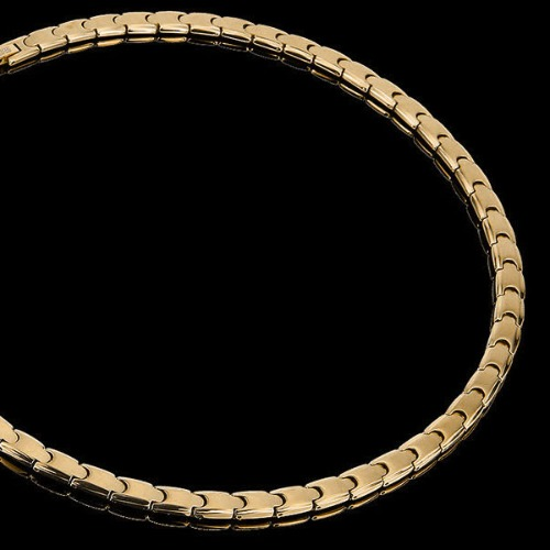 M 최고급 게르마늄 목걸이 알베로 골드 (18K도금) - 건강목걸이