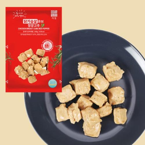 M 아침 닭가슴살큐브 청양고추맛 100g x 10팩 - 간편아침식사