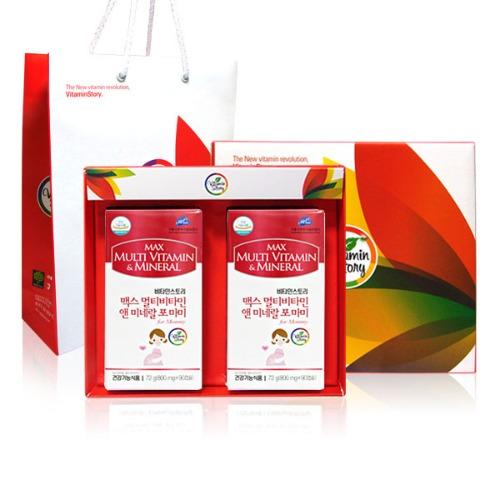M 비타민스토리 맥스 멀티비타민미네랄 포마미 90캡슐 x 2통