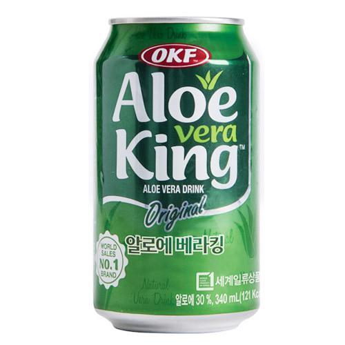 M OKF 오케이에프 알로에베라킹 오리지널 캔 340ml x 24개입 (세계 판매 1위 알로에 전문기업)
