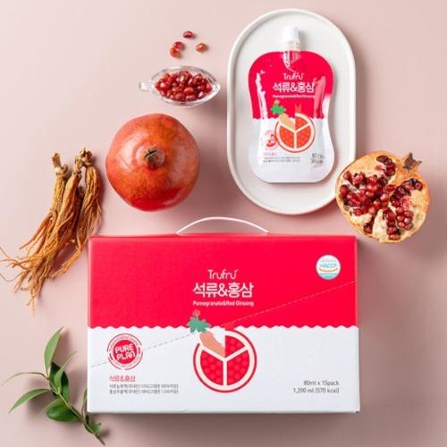 M Truftu 석류&홍삼 80ml x 15포 - 석류즙 석류주스