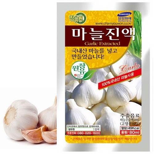 M [참토식품] 국내산100% 참유원 마늘진액60팩 80ml 60팩+5팩 (선물포장)