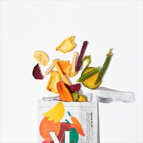 M 밀라이트 믹스칩 100g x 3팩 - 건강간식 야채과자