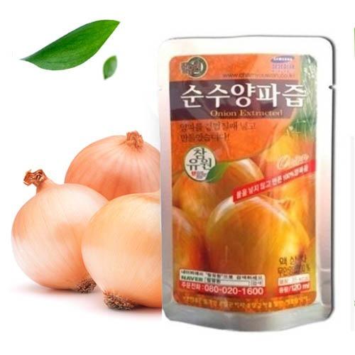 M [참토식품] 국내산100% 참유원 순수양파즙 120ml 100팩+5팩 (선물포장)