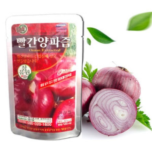 M [참토식품] 국내산100% 참유원 빨간양파즙 120ml 100팩+5팩