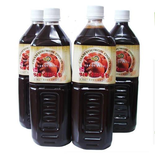 M [참토식품] 국내산100% 참유원 맛있는 3배양파활즙 1박스 (1,000ml x 4병)