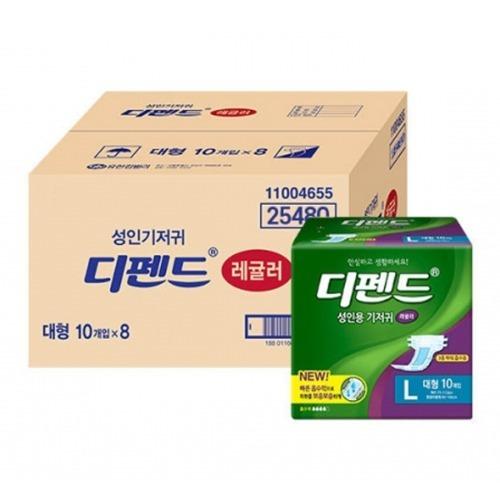 M 디펜드 성인용기저귀 레귤러 대형 80매 - 25480