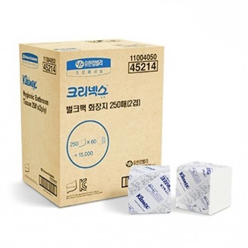 M 크리넥스 벌크팩 화장지 2겹 250매 1박스 (60밴드)