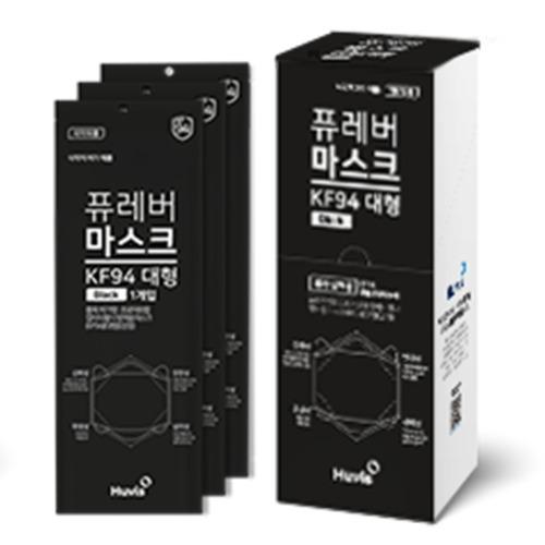 M 퓨레버 KF94 방역 마스크 블랙 20매 - 초미세먼지