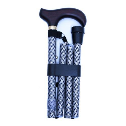 M 홈케어 3단 접이식 알루미늄 지팡이 B043-606-367 격자무늬