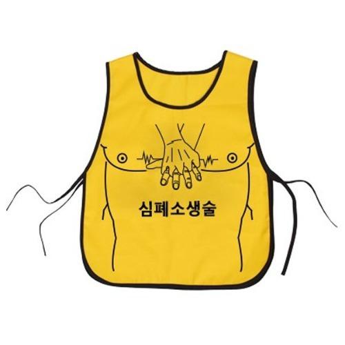 M 심폐소생술 조끼 (노랑) 1개 - CPR실습조끼