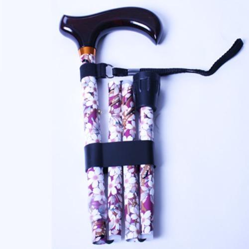 M 홈케어 3단 접이식 알루미늄 지팡이 B029-606S- HC8189-2 브라운흰꽃무늬