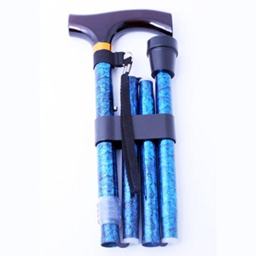 M 홈케어 3단 접이식 알루미늄 지팡이 B043-606-9995 블루무늬