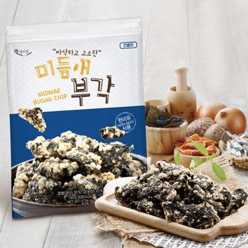 M 미듬애 부각 전통맛 대용량 150g x 3봉지 - 김부각