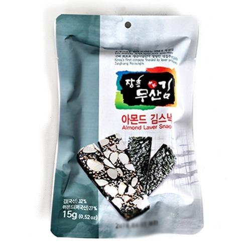 M 장흥무산김 아몬드김 스낵 15g x 10봉지