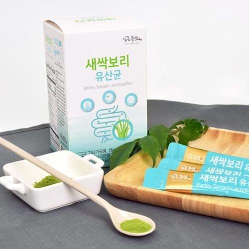 M 새싹보리 유산균 스틱 2.5g x 30포 - 새싹보리분말