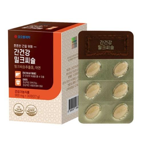M 코오롱제약 튼튼한 간을위해 간건강 밀크씨슬 30정