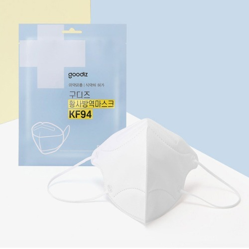 M 구디즈 KF94 황사마스크 새부리형 100매 - 보건용마스크 초미세먼지
