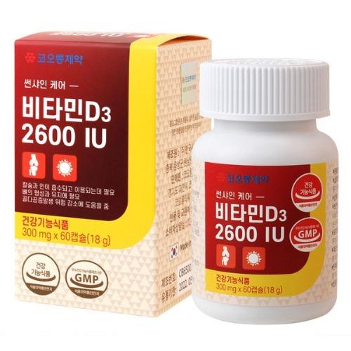 M 코오롱제약 비타민D3 2600 IU 60캡슐