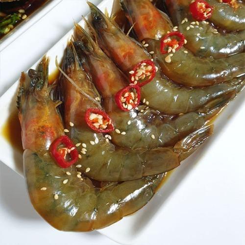 M 여수맛집 현진푸드 수제 간장 새우장 1kg (10미내외)