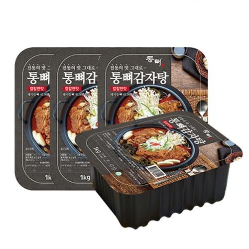M 통뼈 감자탕 보통맛 1kg x 4팩
