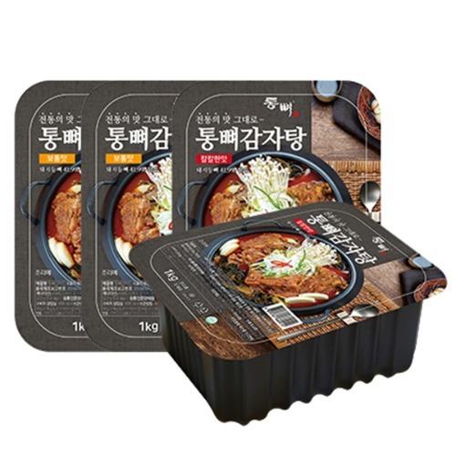 M 통뼈 감자탕 1kg 칼칼한맛 x 2팩 + 보통맛 x 2팩