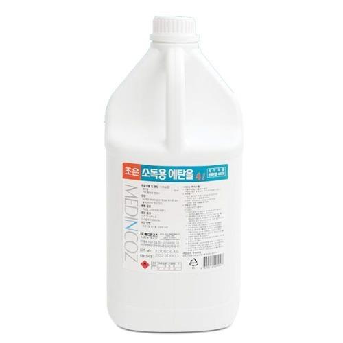 M 조은 알콜 소독용에탄올 83% 4L - 의약외품