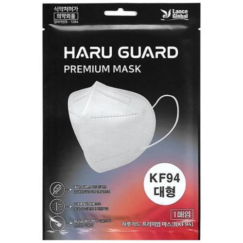 M 하루가드 KF94 황사마스크 새부리형 대형 블랙 50매 - 미세먼지마스크